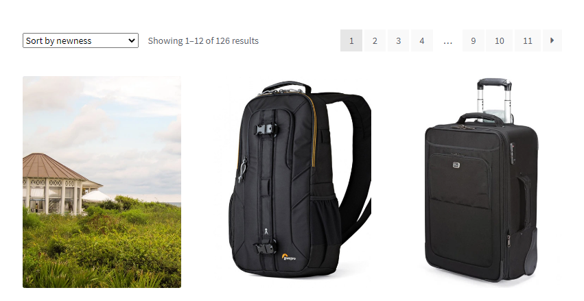 WooCommerce product listing screenshot in Storefront theme